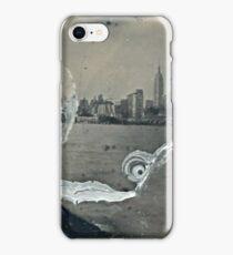 "NYC Skyline with ESB ""tintype"" photograph iPhone Case/Skin"