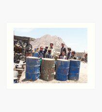Barrel Boys, Panjwai, Afghanistan Art Print