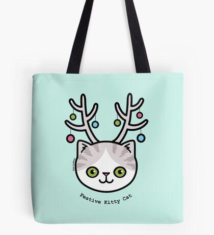 Festive Kitty Cat Tote Bag
