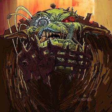 Ork Bolthead by FinnerTom
