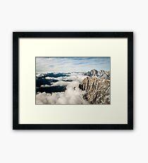 Below us only sky Framed Print
