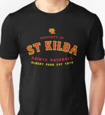 Property of St Kilda Baseball Club T-shirt Black/Grey/Charcoal/White T-Shirt