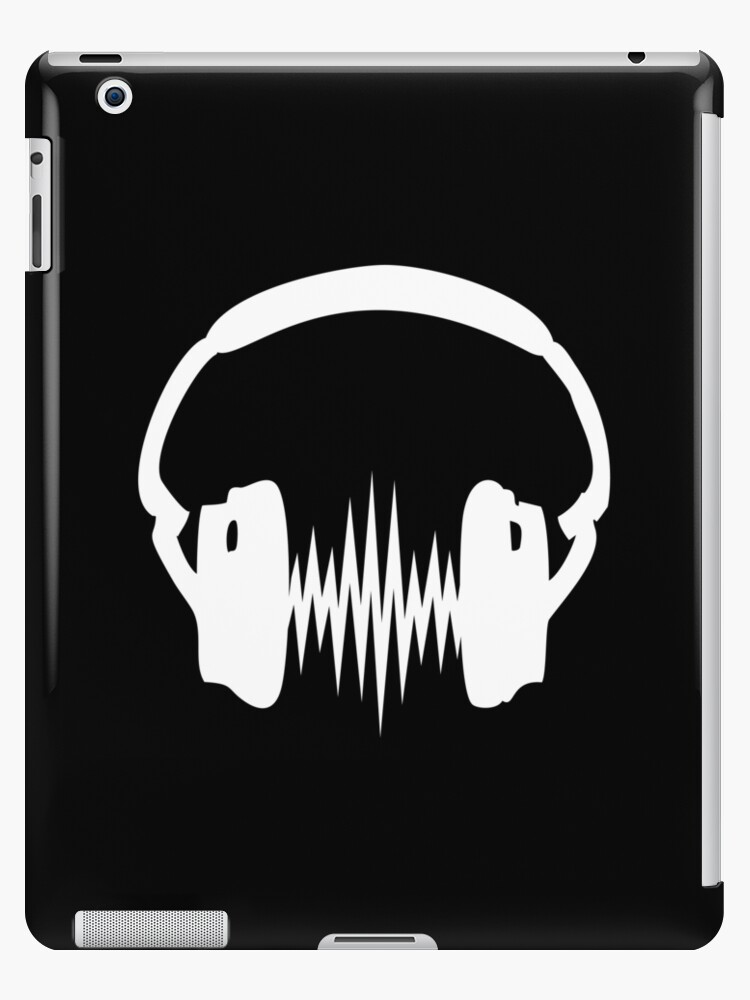 'Headphone, Music, Disco, Dance, Electro, Trance, Techno, Wave, Pulse, '  iPad Case/Skin by Anne Mathiasz