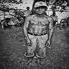 The cambodian man without his shirt by QuintaVale