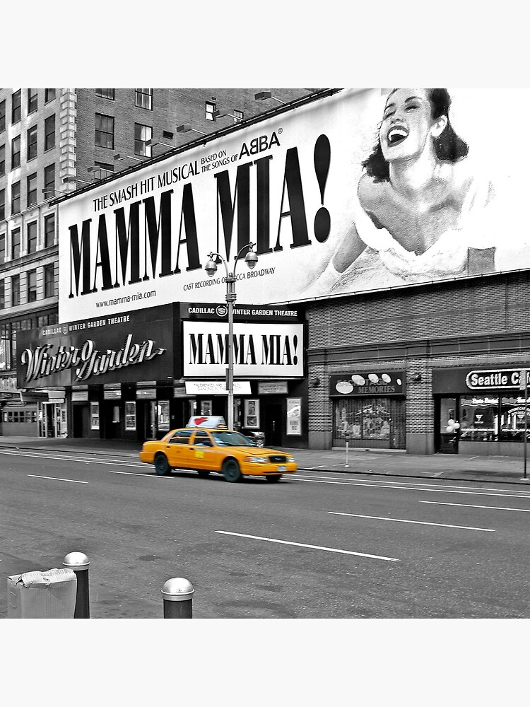 NYC Yellow Cabs Mamma Mia by Hell-Prints