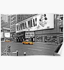 NYC Gelbe Cabs Mamma Mia Poster