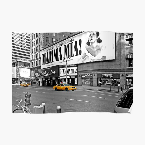 NYC Yellow Cabs Mamma Mia Póster