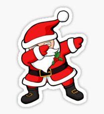 Dabbing Santa Claus Christmas Dab Sticker