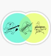 Keytar Platypus Venn Diagram 2 Sticker
