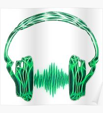 Headphone, Music, Disco, Dance, Electro, Trance, Techno, Wave, Pulse,  Poster