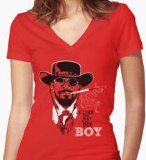 Camiseta entallada de cuello en V Django desencadenado