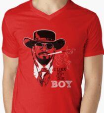 Camiseta de cuello en V Django desencadenado