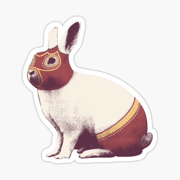 Rabbit Wrestler / Lapin Catcheur Sticker