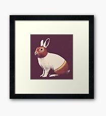 Rabbit Wrestler / Lapin Catcheur Impression encadrée