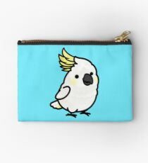 Chubby Sulphur-crested Cockatoo Studio Pouch
