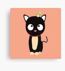 Bird and Cat Guess Who Rm70n Canvas Print