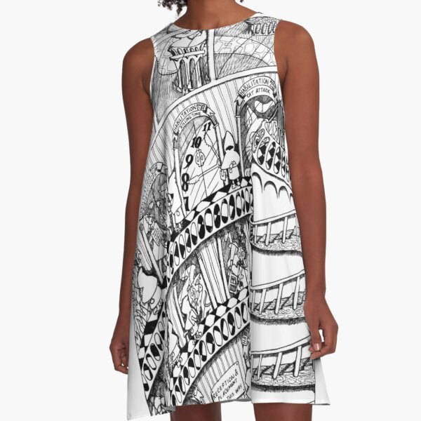 The Big Book of Nightmares - The Facility A-Line Dress