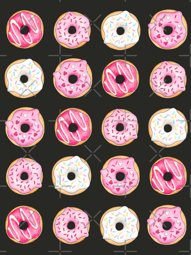 Pink Iced Donuts Pattern by HazelFisher