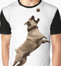 PUG Dog in Action: Colour Logo Graphic T-Shirt