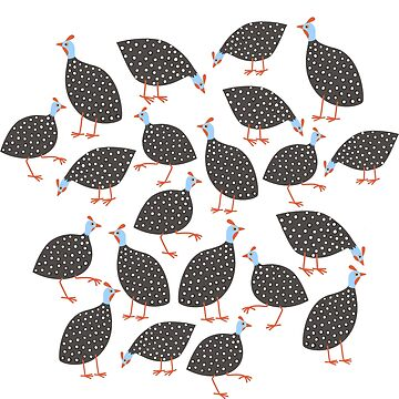 Guinea Hens by squirrell