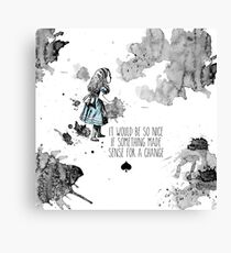 Alice Sense Canvas Print