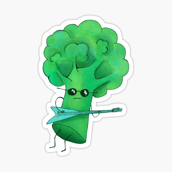 Rocking Broccoli Sticker