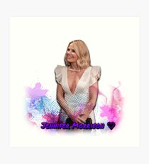 Jennifer Morrison nyfw white dress Art Print