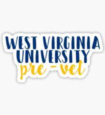 West Virginia University - Pre Vet Sticker
