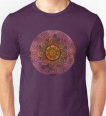 """Purple Mulberry violet shades & Gold Metal Mandala"" T-Shirt"