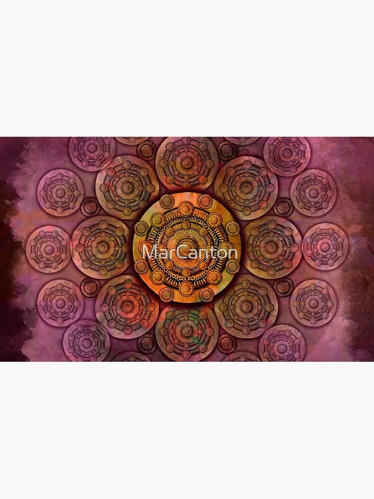 """Purple Mulberry violet shades & Gold Metal Mandala"" de MarCanton"