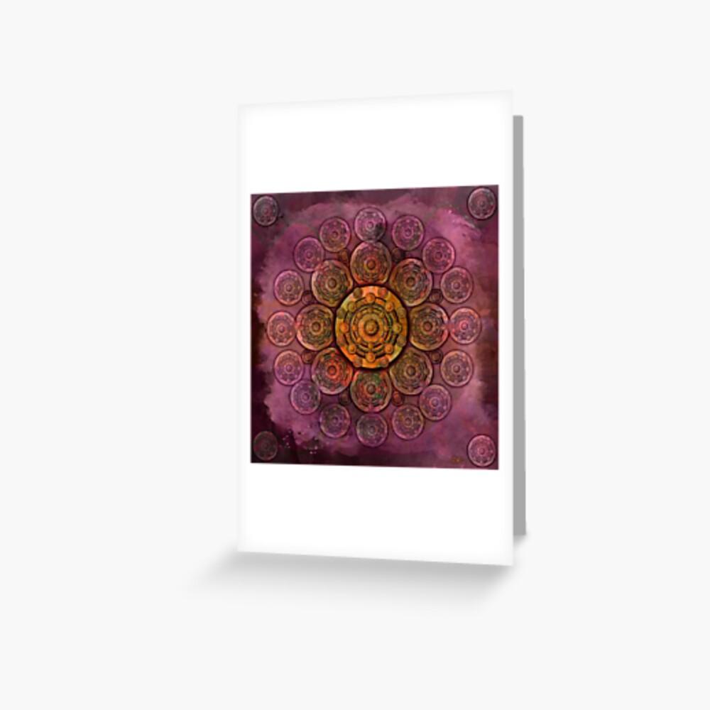 """""""Purple Mulberry violet shades & Gold Metal Mandala"""" Tarjetas de felicitación"""