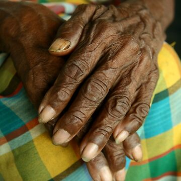 Wrinkled hands of an old person by junpinzon