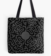 Labyrinthe Noir Tote Bag