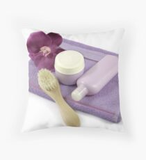 Spa your skin fresher and beautiful Throw Pillow