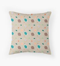 Sea Bubbles - Soft Grey Background Throw Pillow