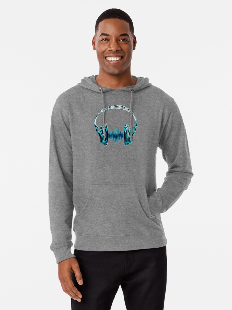 'Headphone, Music, Disco, Dance, Electro, Trance, Techno, Wave, Pulse, '  Lightweight Hoodie by Anne Mathiasz