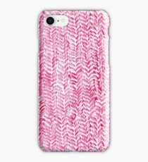 Red Knitted Texture Watercolour iPhone Case/Skin