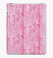 Red Knitted Texture Watercolour iPad Case/Skin
