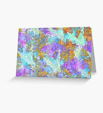 Flutter By (blue, violet and orange) Greeting Card