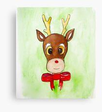 Christmas Rudolph Reindeer  Canvas Print