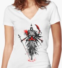 The Queen of Spades Women's Fitted V-Neck T-Shirt