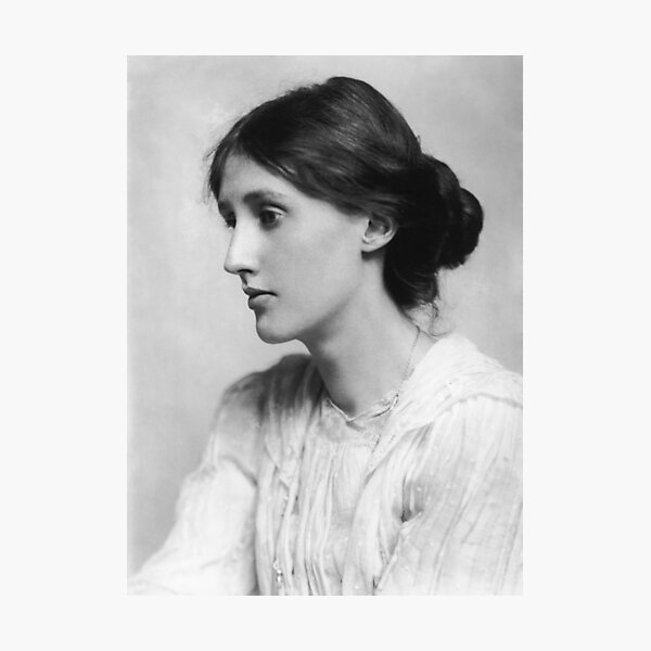 Virginia Woolf - black and white Photographic Print
