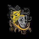 Zodiac - Gemini -  Black & Gold by Adam Santana