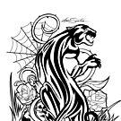 Panther - Black & White by Adam Santana