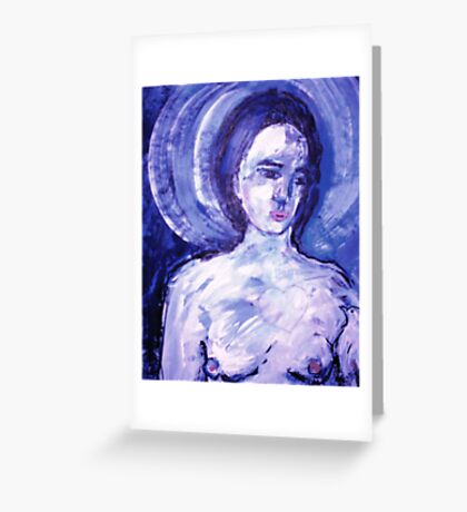 Lady with a heart Greeting Card