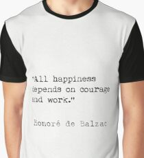 Honoré de Balzac quote Graphic T-Shirt