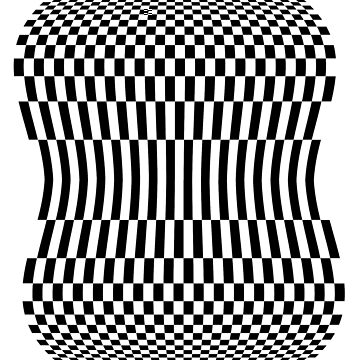OP ART, Illusion, Black and white, checker board by TOMSREDBUBBLE