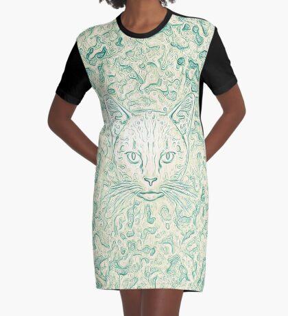 Cold—Warm Cat Graphic T-Shirt Dress