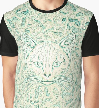 Cold—Warm Cat Graphic T-Shirt