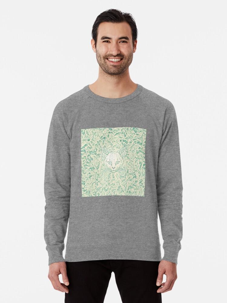 Alternate view of Cold—Warm Cat Lightweight Sweatshirt